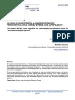 6. La Cocina de La Investigación. Algunas Consideraciones Teórico-metodológicas Sobre El Enfoque Socio-Antropológico (1)