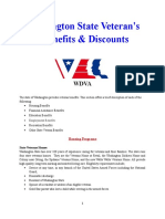Vet State Benefits & Discounts - WA 2018