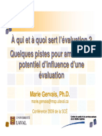 2009 SCE Evaluation Programmes Ameliorer Potentiel