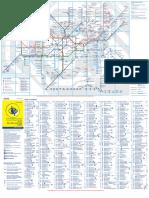 Large Print Tube Map