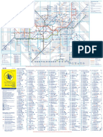 Large Print Tube Map