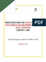 Grupo 1-400-15 - Preliminares Para Manutenção de Linhas de Distribuição At