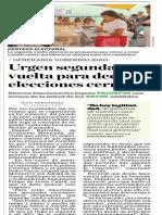 04-07-18 Urgen segunda  vuelta para decidir  elecciones cerradas
