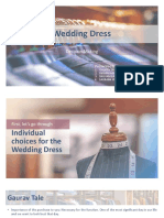 Marketing solution to select a weeding dress