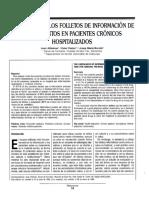 La Utilidad de Los Folletos de Información de, Medicamentos en Pacientes Cronicos Hospitalizados