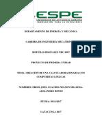 Informe de Sistemas Digitales Proyecto