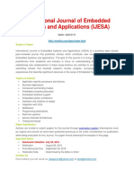 International Journal of Embedded Systems and Applications IJESA