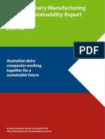 Australian Dairy Industry Sustainability Report