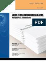 Audit Analytics 2008 Restatement Rpt