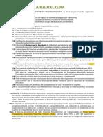 6 Requisitos Aprobación Proyecto de Arquitectura