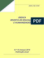 DEDiCA Nº 10 2016 Revista Edu y Humanidades