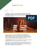 definicion Derecho