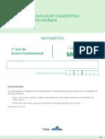 m0101 Matematica Aluno 1ºano
