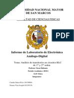 Informe 2 de Electro Analogo