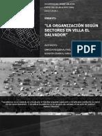 ORGANIZACIÓN SEGÚN SECTORES VILLA EL SALVADOR
