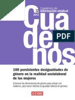 100 Persistentes Desigualdades de Género en La Realidad Sociolaboral