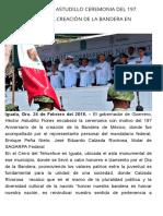 24-02-2018 Encabeza Héctor Astudillo Ceremonia Del 197 Aniversario de La Creación de La Bandera en Iguala.