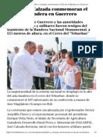 25-02-2018 Astudillo y Calzada Conmemoran El Día de La Bandera en Guerrero.