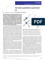 Wheeler's Delayed-choice Gedanken Experiment With Single Atom
