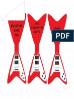 VALENTINES DAY Guitar Valentine Printable