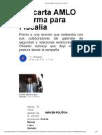 Descarta AMLO Reforma Para Fiscal A