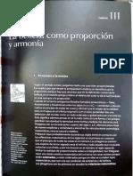 Historia de La Belleza. Umberto Eco. Cap. III La Belleza Como Proporción y Armonía