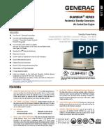 Generac Spec Sheet 9kw and 11kw