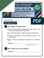 Tarjeta Auxiliar de Guias Mayores - Wildcats