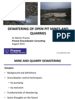 Dewatering in Open Pit Mining and Quarrying