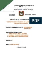 Proyecto Crea y Emprende Ugel Palpa 2017 Ivan Flores Montero