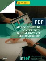 2017 0810 Marco Comun de Competencia Digital Docente