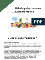 Gobernabilidad y Gobernanza en La Ciudad de México