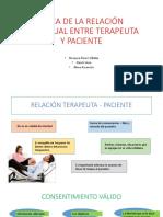 Etica de La Relación Individual Entre Terapeuta y