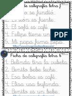Cuaderno de Caligrafía Por Letras Parte2