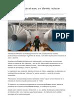 Industrias Vinculadas Al Acero y El Aluminio Rechazan Aranceles de EU
