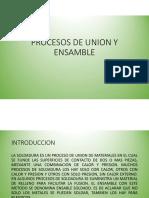UNIONES PERMANENTES(SOLDADURA)