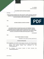 Plaintiffs¹ Notice of Application  Injunction Filed 2018.07.06