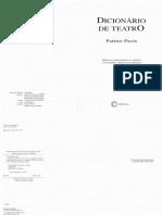 Patrice Pavis -  Dicionario de Teatro
