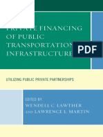 An Introduction to Private Sector Financing of Transportation Infrastructure