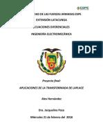 APLICACIONES DE LA TRANSFORMADA DE LAPLACE