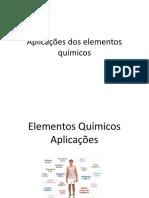 Aplicações Dos Elementos Químicos 2 EM