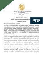 Decision Exp. SC-2018-0010 - Ponente Mag. Elenis Del Valle