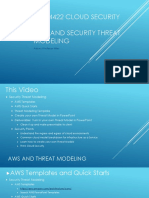 Security Threat and AWS Modeling Project Lecture