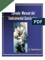 Lavado Manual Elementos Quirurgicos