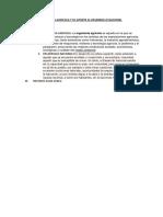 Ingenieria Agricola y Su Aporte Al Desarrollo Nacional