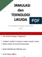 Kuliah Likuida 1 - introduction of dosage forms + Pengantar Solutions OK