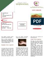 Kista Ganglion leaflet brosur