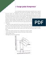 Prinsip Dasar Surge Pada Kompresor