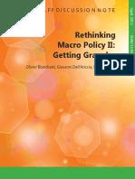 Rethinking Macro Policy