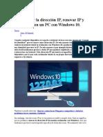 Como Saber La Dirección IP